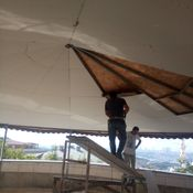 Banyo+Giriş Holü asma tavan olacak toplam 18 m2  Salon tavan led havuzu olacak topmam 28 m2